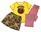 Girls 3-Piece Pajama Sleepwear Set - T-shirt, Shorts, Pants