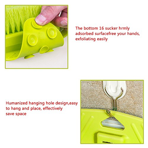 Jaxbo Shower Foot Scrubber Brush with Suction Cups for Deep Clean Scrubber Massager (Green) by Jaxbo (Image #5)