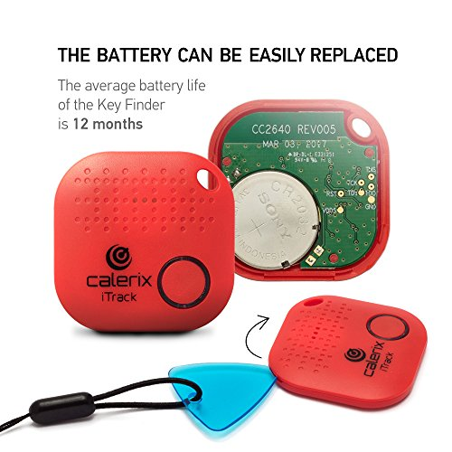 Cell Phone Locator Key Finder Upgrade by Calerix Red Anti-Lost Tool for Wallet Car Key Pram /& Pets Tracker Bluetooth Key Finder with Alarm GPS Tracking System Wireless Key Finder Purse