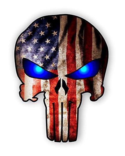 American Flag Punisher Blue Sticker