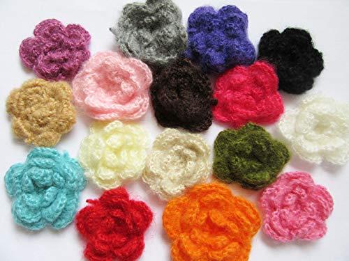 Crochet Flower Pins - YYCRAFT 2