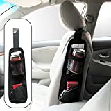 Car Seat Side Storage Organizer,Quaanti 1PC Front Car Seat Side Storage Organizer Hanging Interior Multi-Use Pouch Former Seat Bags Mesh for Holder (Black)