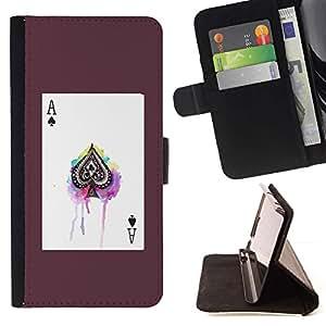 For LG G4 Stylus / G Stylo / LS770 H635 H630D H631 MS631 H635 H540 H630D H542 Case , Ace Tarjetas Poker espadas Poster Juego- la tarjeta de Crédito Slots PU Funda de cuero Monedero caso cubierta de piel