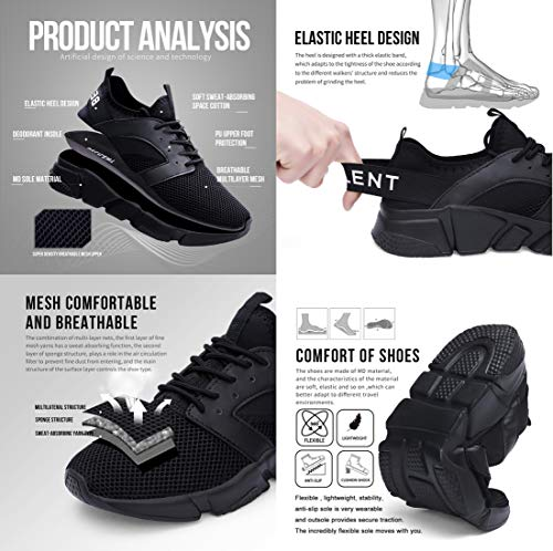 Gym White077 for Road Walking Black Sport Running Sneakers Trainers Athletic Ritiriko Ladies Women Shoes n1xOvqRpRw