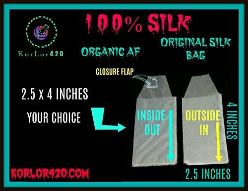 Rosin Screen Press SILK PREMIUM BAGS 2.5X4.5'' 37 Micron BULK 100 BAGS by KorLor