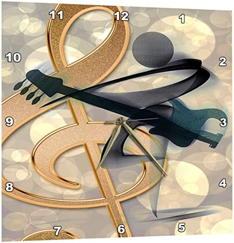 3dRose Print of Trendy Music Note and Book – Wall Clock, 15 by 15 DPP_204032_3