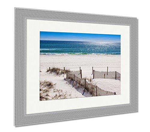 Ashley Framed Prints Panama City Beach, Wall Art Home Decoration, Color, 30x35 (frame size), Silver Frame, - Panama Sands City Silver Beach