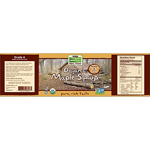 NOW Foods Organic Maple Syrup,Grade A Amber Color, 32-Ounce by NOW Foods (Image #1)