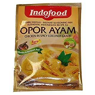 Indofood - OPOR AYAM - CHICKEN IN SPICY COCONUT GRAVY - 6 x 45 G / Product of Indonesia