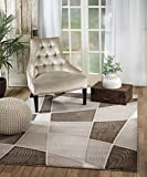 SUMMIT BY WHITE MOUNTAIN Rio 6Q-EUC0-5U8B Summit 303 Taupe Brown Area Rug Modern Abstract Many Sizes Available (3′.6″ x 5′), 3′.6″ x 5′ Review