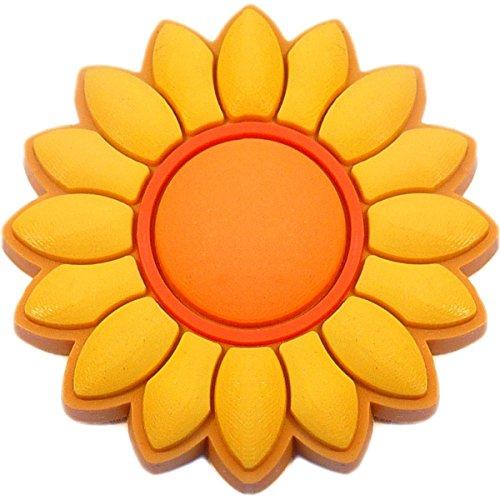 Sunflower Rubber Charm Jibbitz Croc Style