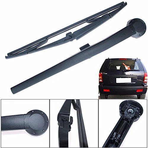 Jahyshow Rear Windshield Back Wiper Arm Blade Set for JEEP Grand Cherokee 2005 2006 2007 2008 2009 2010 # (Fiberglass Windshield Frame)