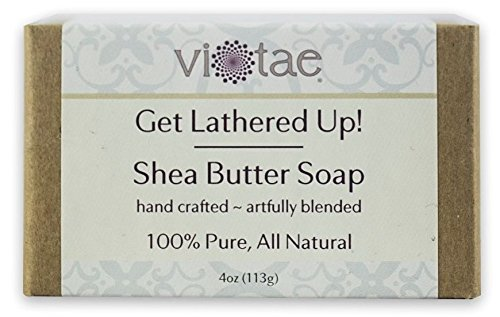 Vi-Tae 100% Natural and Organic Handmade 'Get Lathered Up' 4oz Soap Bars (Shea Butter, 1 pack)