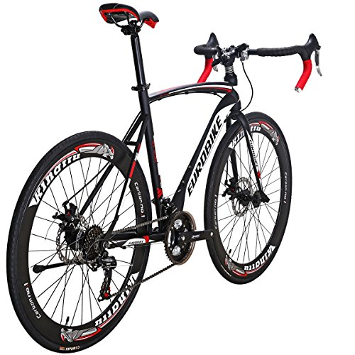 Eurobike Road Bike TSM 550 21 Speed 54Cm Frame Dual Disc Brake Wheels Bicycle