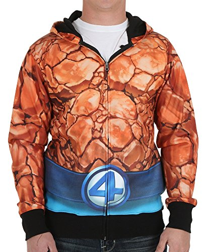 Fantastic Four The Thing Sublimated Costume Hoodie Medium - 4 Fantastics Costumes