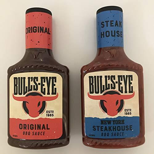 Bull's-Eye BBQ Sauce Bundle – 2 smaken – Originele BBQ (355g) en New York Steakhouse (360g) (2 Pack)