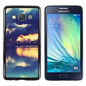 Stuss Case / Funda Carcasa protectora - PINTORESCO PUESTA DEL SOL DEL LAGO - Samsung Galaxy A3