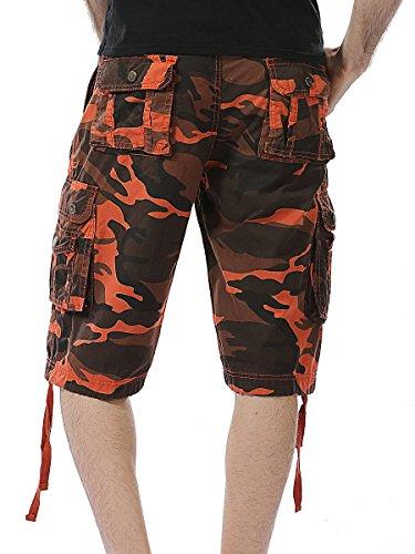 rosso Pantaloncini Arancione Sportivi Basic Crazyplayer Uomo 7vwR1