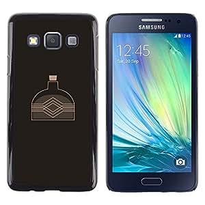 // PHONE CASE GIFT // Duro Estuche protector PC Cáscara Plástico Carcasa Funda Hard Protective Case for Samsung Galaxy A3 / Water Kettle /