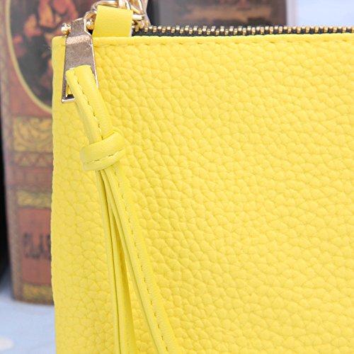 Bag New Litchee Leather Bags Patern Yellow Bag Small Lemon PU Widewing Shoulder Crossbody Women zIdzw