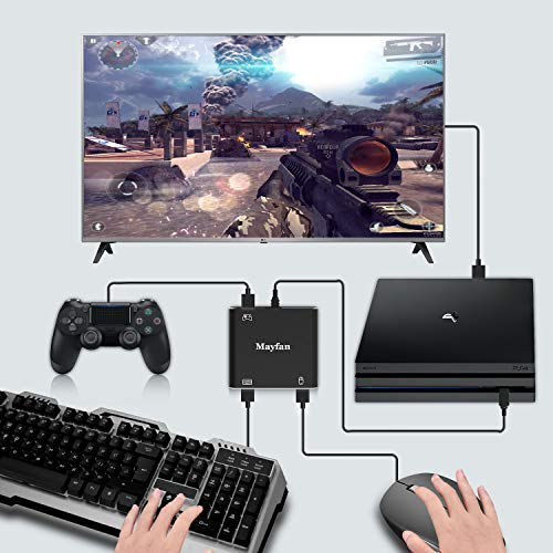 Mouse-Controller-Keyboard-Adapter, Mayfan PUBG,Fortnite