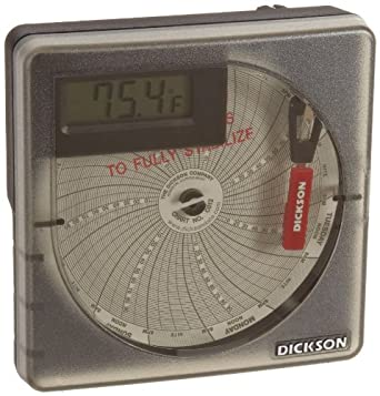 Dickson temperature chart recorder with digital display 7 day or 24