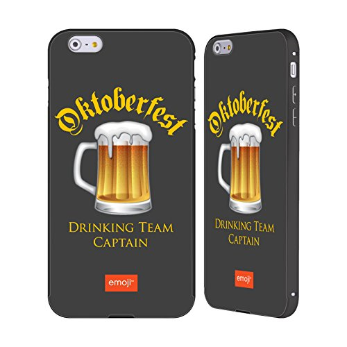 Officiel Emoji Capitaine d'Équipe Oktoberfest Noir Étui Coque Aluminium Bumper Slider pour Apple iPhone 6 Plus / 6s Plus