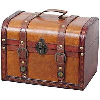 Amazon.com: Vintiquewise(TM) Dresser Valet Leather Chest With ...