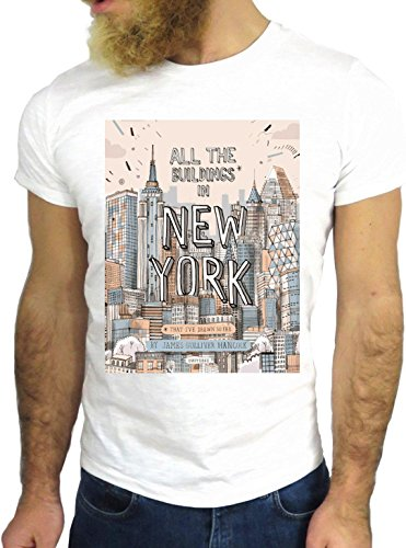 T-SHIRT JODE GGG24 HZ0241 NEW YORK FUN COOL VINTAGE ROCK FUNNY FASHION CARTOON NICE AMERICA BIANCA - WHITE M