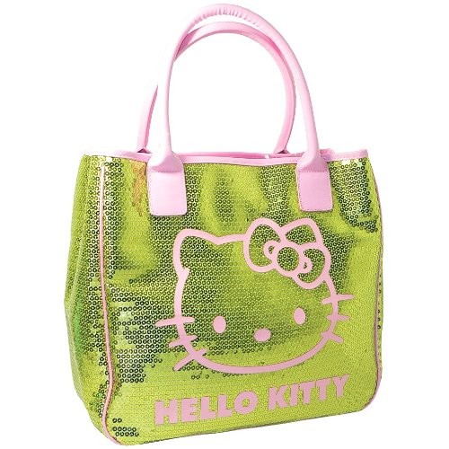 SHOULDER KITTY CAMOMILLA Kitty SEQUINS TOTE LARGE Hello BAG by GREEN HAND LUXURY HELLO LADIES fY1Fq1