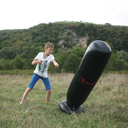 TSport-Inflatable Punching Bag for Kids - Boxing Bag - Punching Bag with Stand for Adults - Freestanding Punching Bag for Karate, Kickboxing and Taekwondo Training