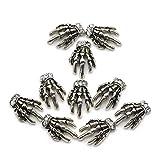 So Beauty Vintage Silver Skeleton Hand Nail