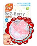 RaZbaby RaZ-Berry Silicone Teether/Multi-Texture Design/Hands Free Design/Pink