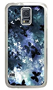 Butterflys Clear Hard Case Cover Skin For Samsung Galaxy S5 I9600