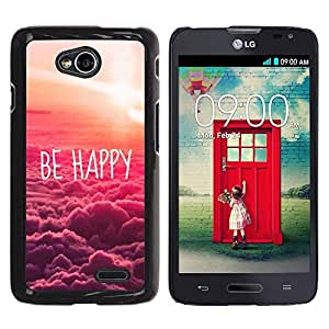 FECELL CITY // Duro Aluminio Pegatina PC Caso decorativo Funda Carcasa de Protección para LG Optimus L70 / LS620 / D325 / MS323 // Happy Sunset Clouds Nature Pink