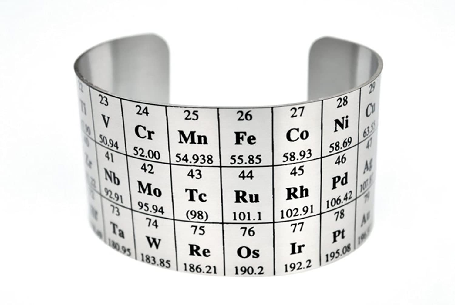 Amazon neurons not included periodic table of elements cuff amazon neurons not included periodic table of elements cuff aluminum wide bracelet jewelry urtaz Image collections