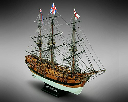 Mamoli MV39 - HMS Bounty - Wood Plank-On-Bulkhead  Model Ship Kit - Scale 1/64 - Length 610 mm (24