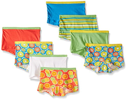 g Girls'  Girls'  Cotton Boyshort, Assorted, 10(Pack of 8) ()