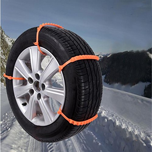 Boddenly 1 x 1/5 Car Anti-skid Emergency Snow Tyre Chains Car Belting Straps Anti-slip Chain (5PCS)