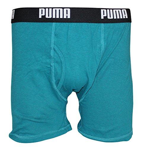 Puma Mens 3 Pack Tech Boxer Brief Blue/Aqua