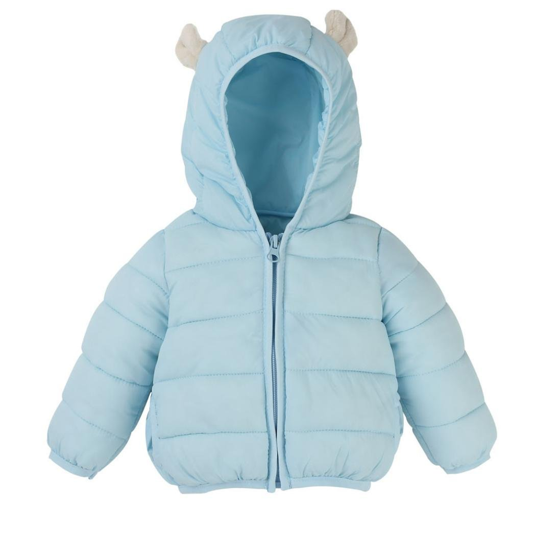 CSSD Newborn Kids Baby Boy Girl Clothes Warm Hoodie Coat Jackets Cardigan Outwear (90, Light Blue) by CSSD