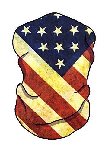 Premium Quality Seamless Bandana/Face Mask for Raves, Music Festivals, Dust, Multipurpose (American (Multi Purpose Flag)