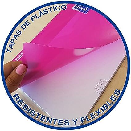 Cuadernos Folio(A4) Oxford. Pack 5 unidades. Tapa Plástico. 80 Hojas cuadrícula 4x4. Surtido colores tendencia.: Amazon.es: Oficina y papelería