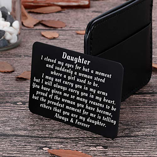 To My Daughter from Mom Dad Christmas Wallet Card Inserts Valentine Gifts for daughter Mothers Day Inspirational Sweet…