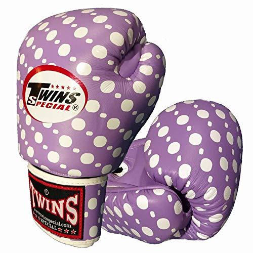 Twins ボクシンググローブ 本革製 スポットスタイル Light Purple B07K1KJ88T  10oz