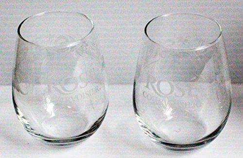 pair-of-rose-courvoisier-stemless-5oz-promotional-glasses