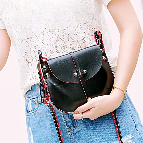 Hit PINK Fashion Bafaretk Womens Hand Crossbody Bag Black Bag Bag Leather Shoulder Color Rivets SwqIZC7w
