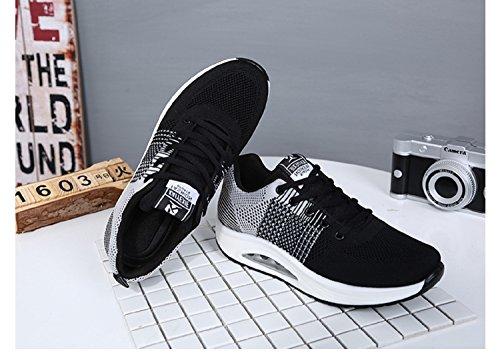 Piattaforma Fitness Multisport Sportive Scarpe Scarpe Ginnastica da LILY999 Tennis Grigio Running Donna Sneakers Dimagranti Outdoor O1FqxXA