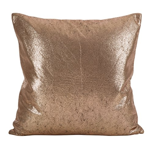 - SARO LIFESTYLE Shimmering Metallic Design Down Filled Throw Pillow, 20