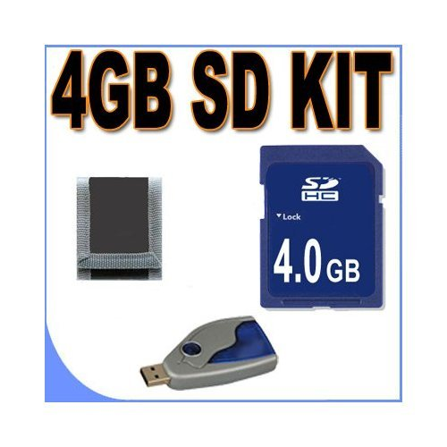 4GB SD / HC Memory Card Secure Digital BigVALUEInc Accessory Saver Bundle for Canon Cameras by BVI